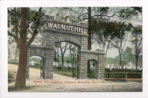 IL, Belleville - Walnut Hill Cemetery entrance (ONLY Digital Copy Avail) - SL2480