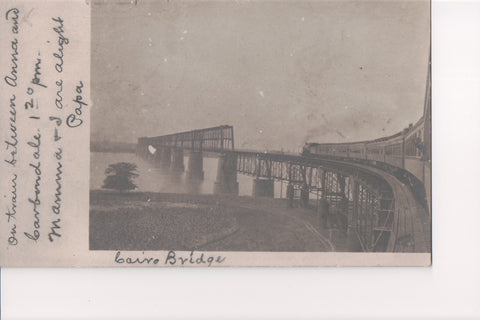 IL, Cairo - Cairo RR Bridge, head out of train (ONLY Digital Copy Avail) - B06213