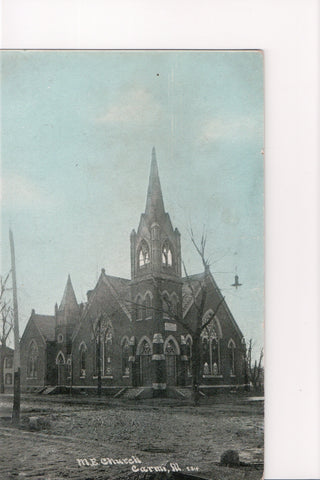IL, Carmi - M E Church postcard - A10081