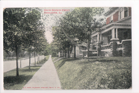 IL, Charleston - South Seventh Street postcard - SL2453
