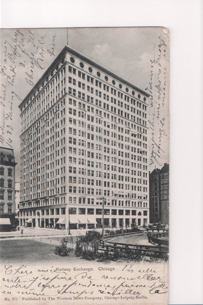 IL, Chicago - Railway Exchange building postcard - A07104
