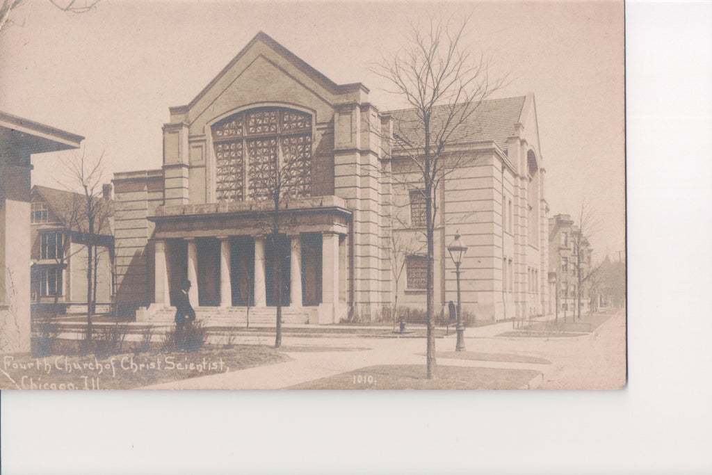 Il, Chicago - Fourth Church of Christ Scientist Childs RPPC - B06019