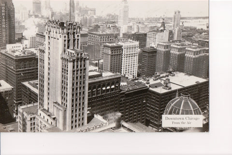 IL, Chicago - Downtown from the air, Morrison Hotel - RPPC - B08188