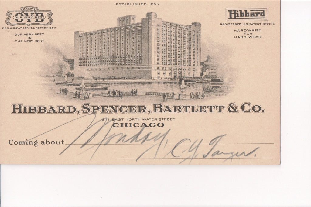 IL, Chicago - Hibbard, Spencer, Bartlett and Co (ONLY Digital Copy Avail) - B08189