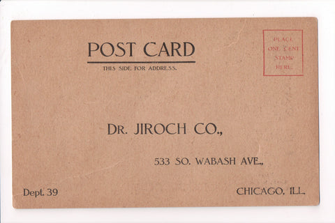 IL, Chicago - Dr Jiroch Co - Advertisement card - B17066