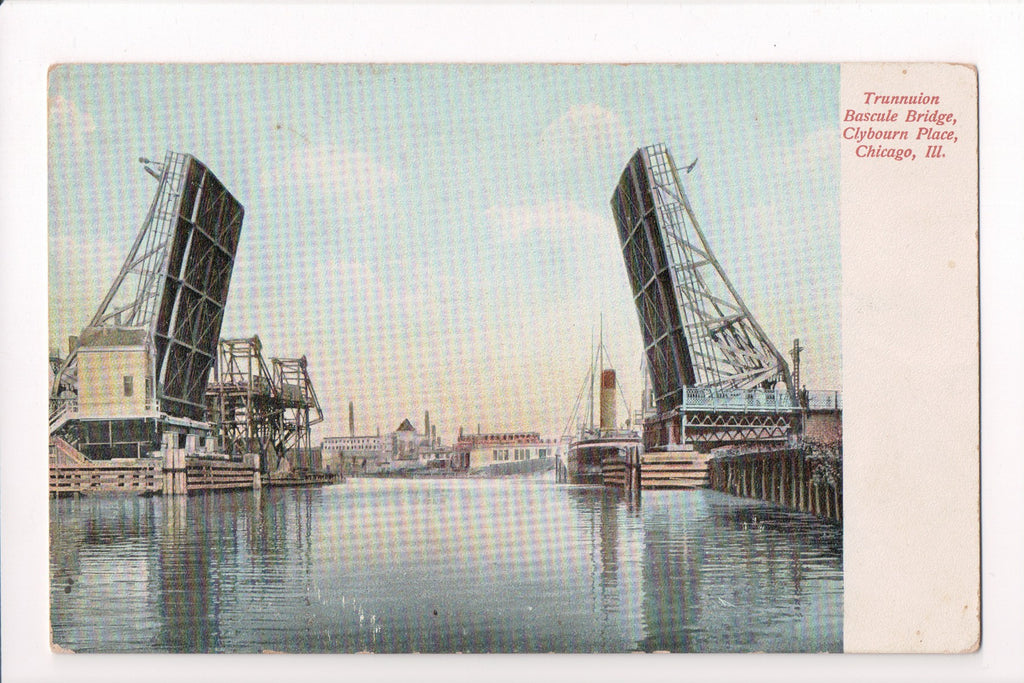 IL, Chicago - Trunnuion Bascule Bridge (ONLY Digital Copy Avail) - C08083