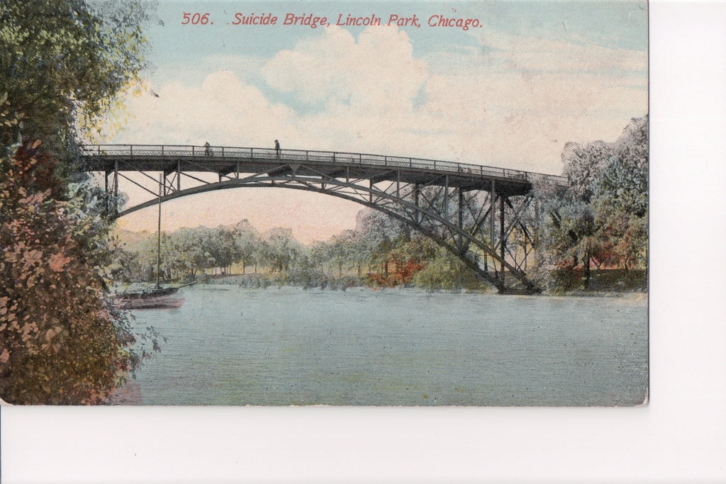 IL, Chicago - Lincoln Park, Suicide Bridge postcard - CR0036