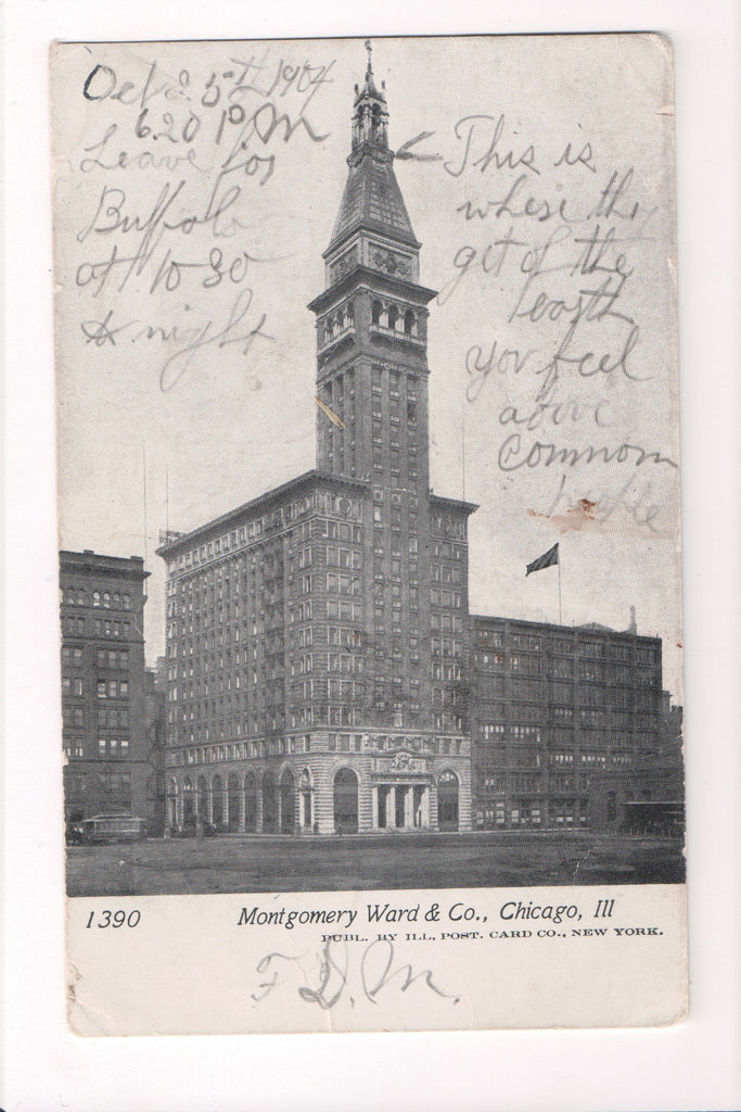 IL, Chicago - Montgomery Ward and Co postcard - D05375
