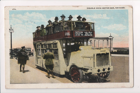 IL, Chicago - Double Deck Motor Bus - B17016