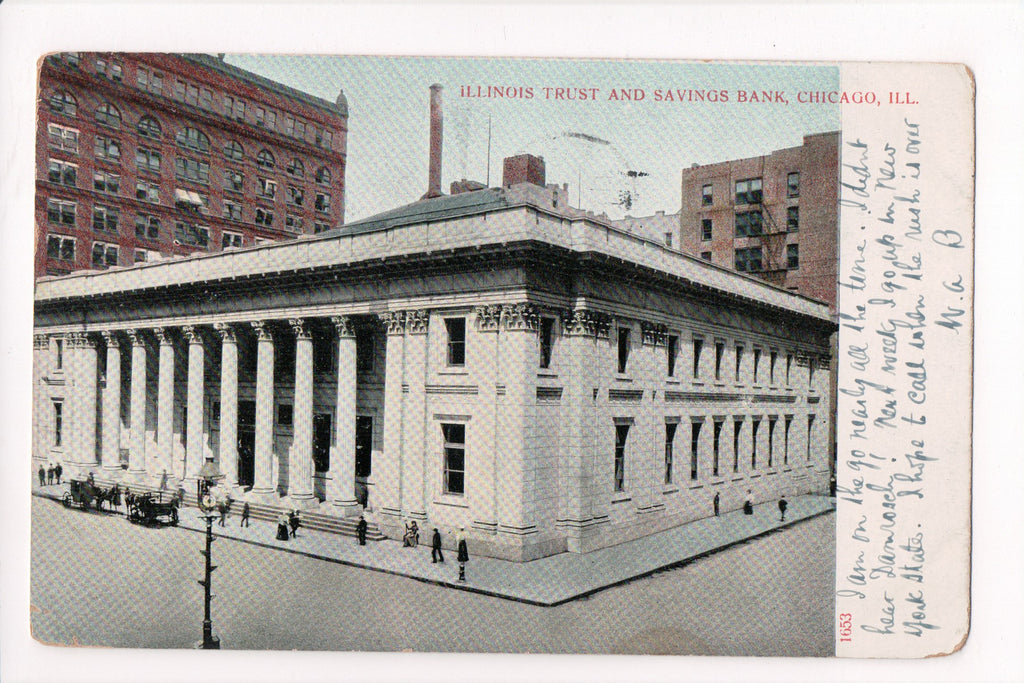 IL, Chicago - Illinois Trust and Savings Bank postcard - B17272
