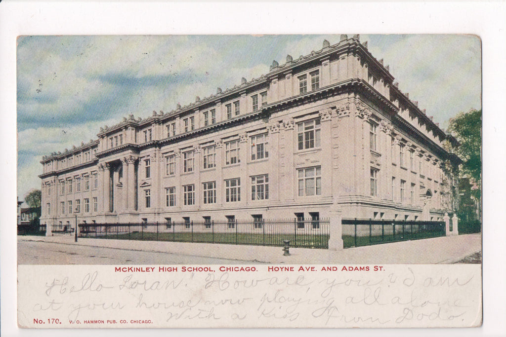 IL, Chicago - McKinley High School, Hoyne Ave, Adams St - SL2436