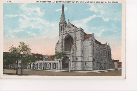 IL, Chicago - 4th Presbyterian Church postcard - w03283
