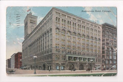 IL, Chicago - Auditorium Hotel - @1917 - z17057 - postcard **DAMAGED / AS IS**