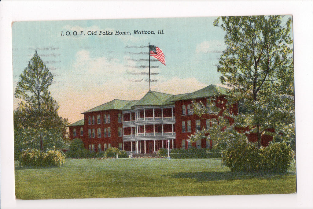 IL, Mattoon - IOOF, Old Folks Home postcard - C06332