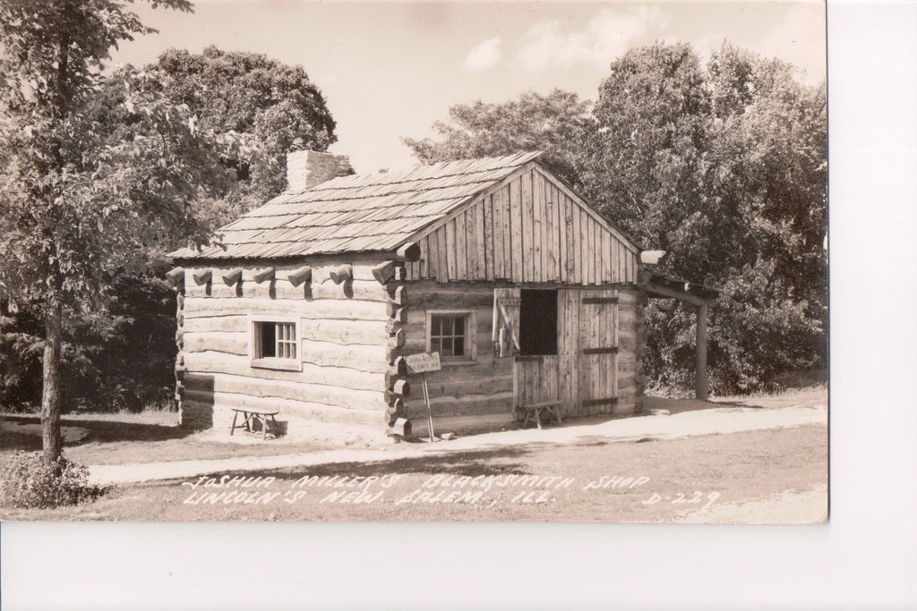 IL, New Salem - Joshua Miller Blacksmith Shop RPPC - B08164