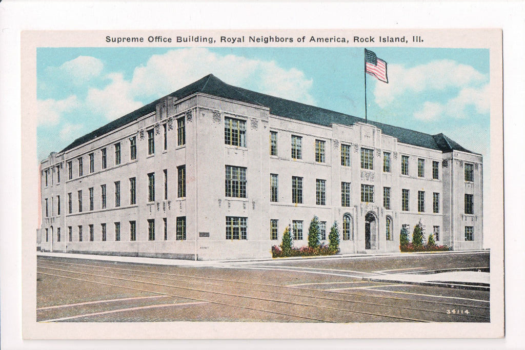 IL, Rock Island - Royal Neighbors of America, Supreme Office - J03126