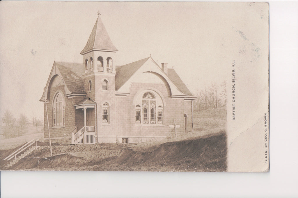IL, Silvis - Baptist Church - Geo G Brown RPPC - B11256