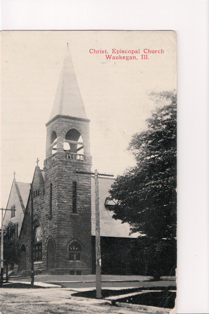 IL, Waukegan - Christ. Episcopal Church postcard - F09075