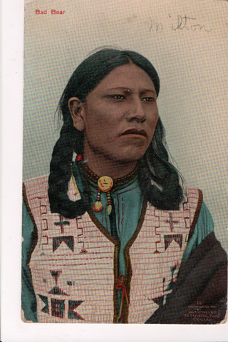 Indian postcard - Bad Bear, close up - 801069