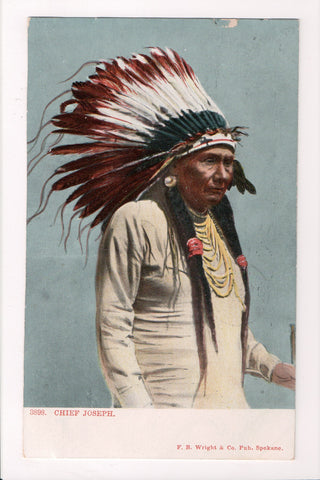 Indian postcard - Chief Joseph close up - Selige, Seliochrom - 801073
