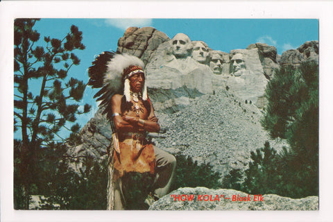 Indian postcard - Sioux Warrior Black Elk (HOW KOLA) - A17072