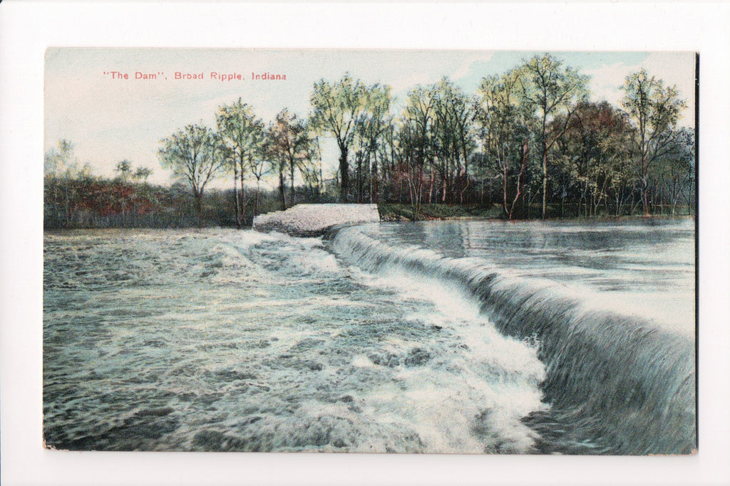 IN, Broad Ripple - Dam view from side - D08251