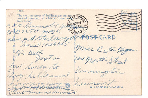 pm DPO - IN, Camp Atterbury - 1943 cancel - Helbock S/I #1 - w01723