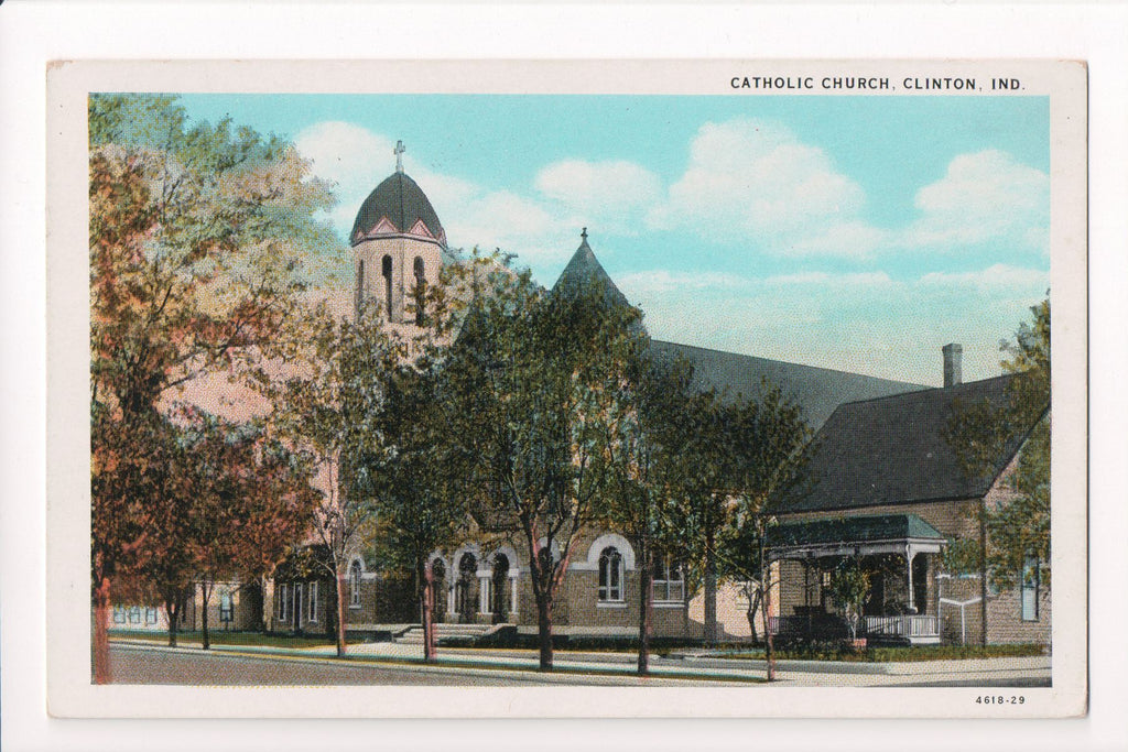 IN, Clinton - Catholic Church postcard - 700134