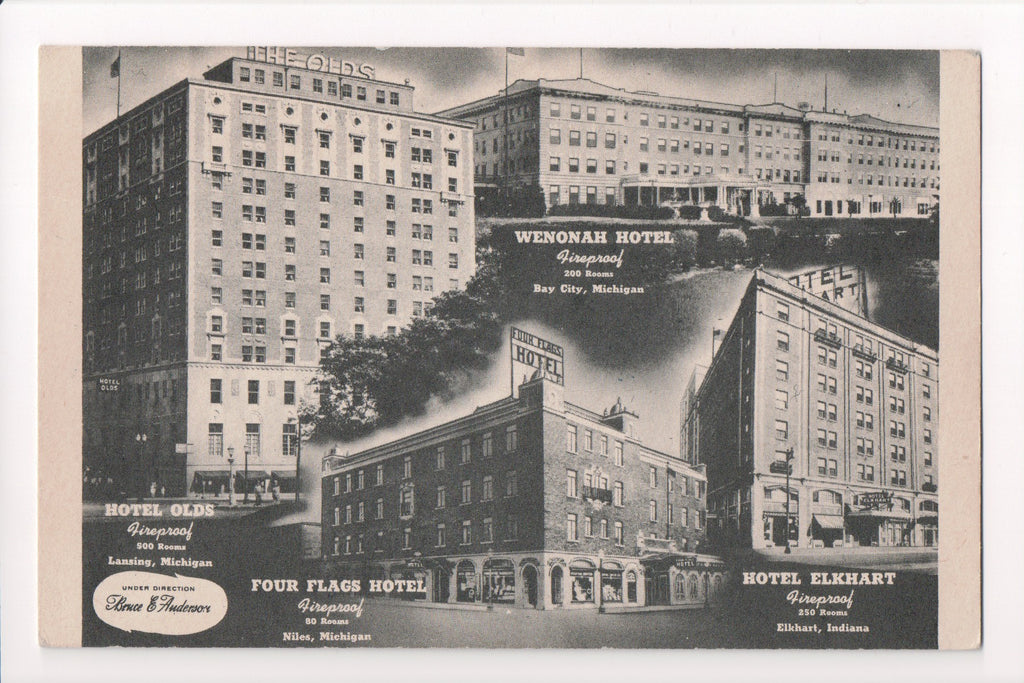 IN, Elkhart - Hotel Elkhart postcard multi (ONLY Digital Copy Avail) - w00726