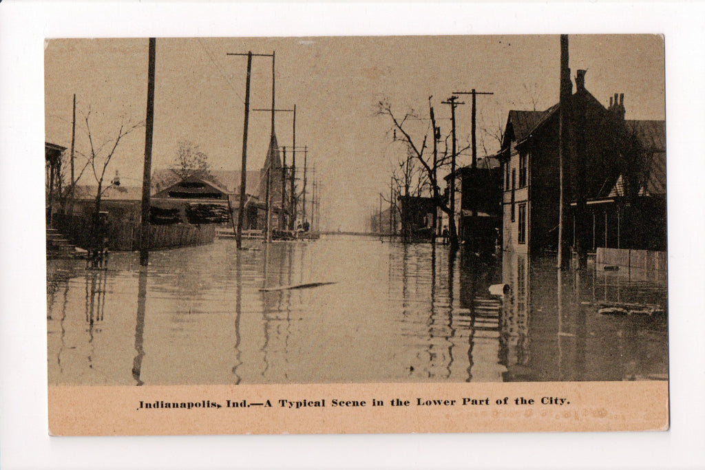 IN, Indianapolis - Flooding disaster in Lower part of city - G03178