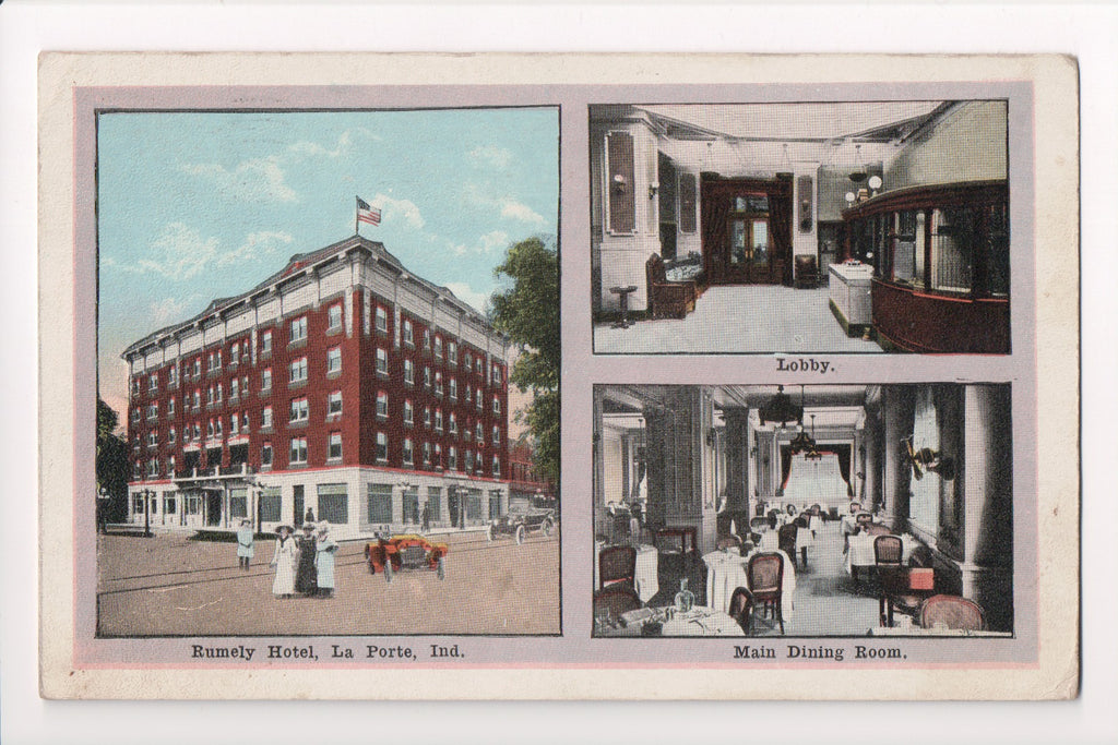 IN, LaPorte - Rumely Hotel multi view postcard - F09077