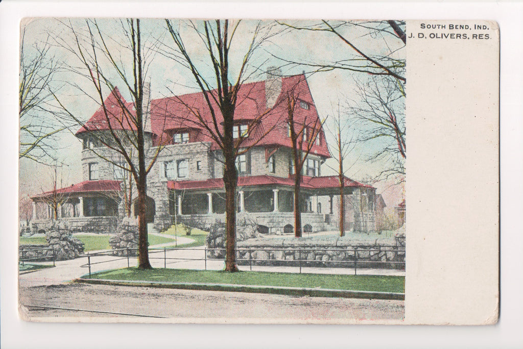 IN, South Bend - J D Olivers Residence closeup - w00727