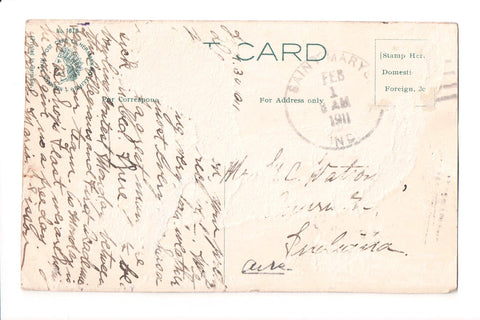 pm DPO - IN, SAINT MARYS - 1911 cancel - Helbock S/I #1 - B05463