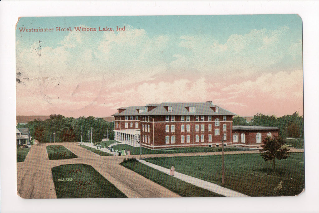 IN, Winona Lake - Westminster Hotel postcard - w00870