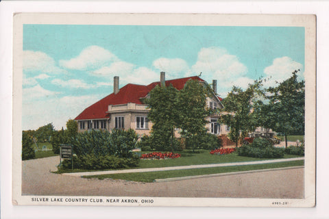 OH, Akron - SILVER LAKE COUNTRY CLUB - @1937 postcard - J03001