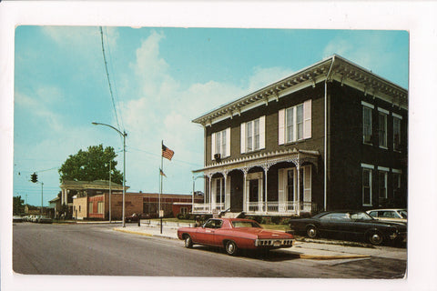 OH, Bellefontaine - POST OFFICE, CITY bldg - vintage postcard - K04022