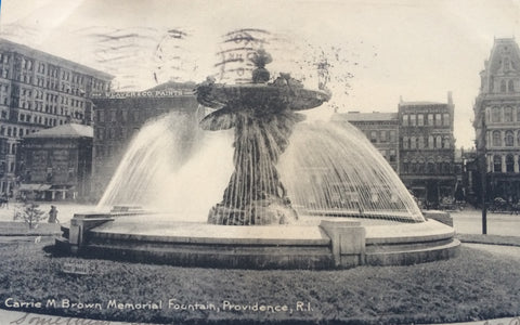 RI, Providence - Carrie M Brown Fountain (ONLY Digital Copy Avail) - A06126