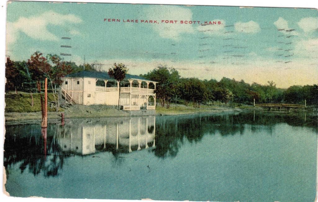 KS, Fort Scott - Fern Lake Park postcard - B06198