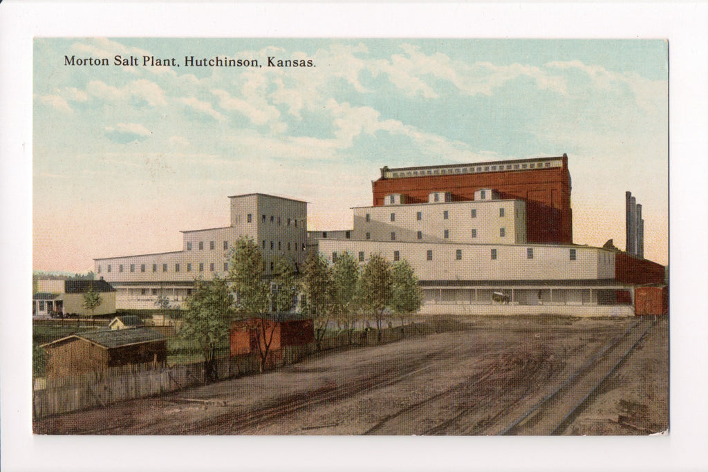 KS, Hutchinson - Morton Salt Plant postcard - B08316