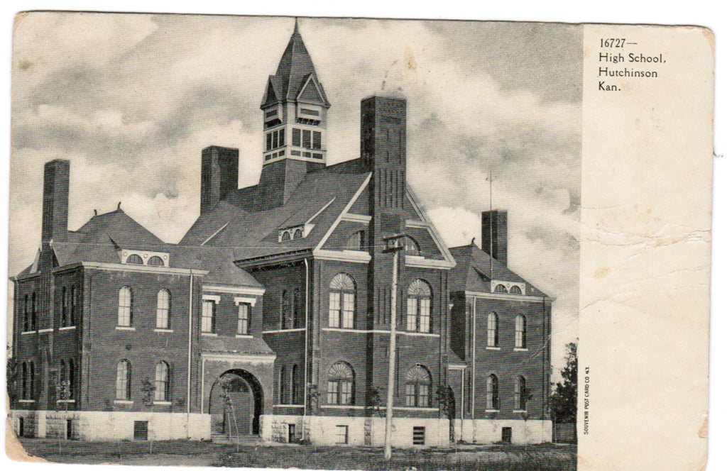 KS, Hutchinson - High School postcard - K04173