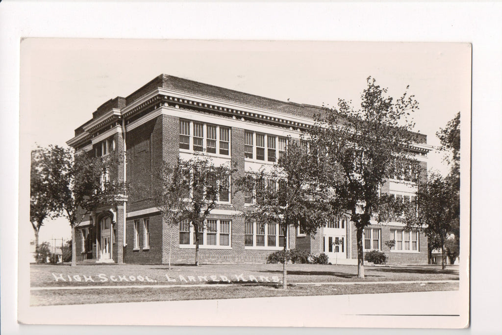 KS, Larned - High School - RPPC postcard - R00377