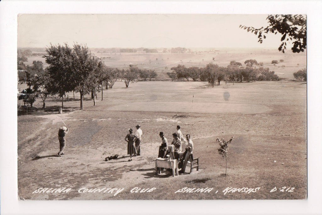 KS, Salina - Country Club, Golf, L L Cook RPPC - D06103