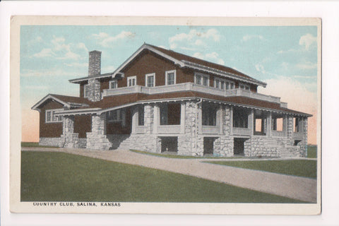 KS, Salina - Country Club building - Commercialchrome postcard - cr0418