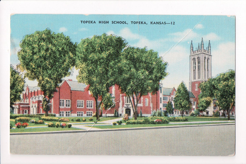 KS, Topeka - High School postcard - D04277