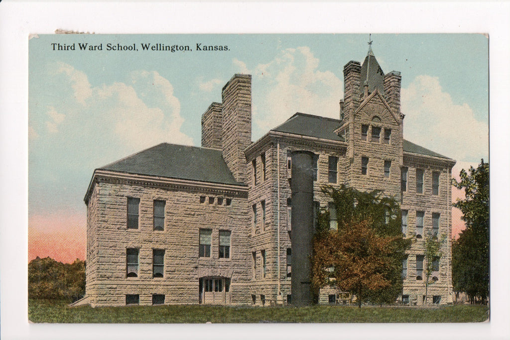 KS, Wellington - Third Ward School, huge stack of sorts - C08018