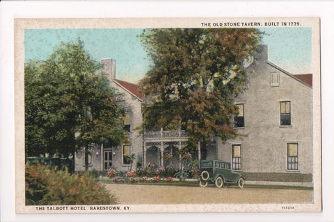 KY, Bardstown - Talbott Hotel - z17016 - postcard **DAMAGED / AS IS**