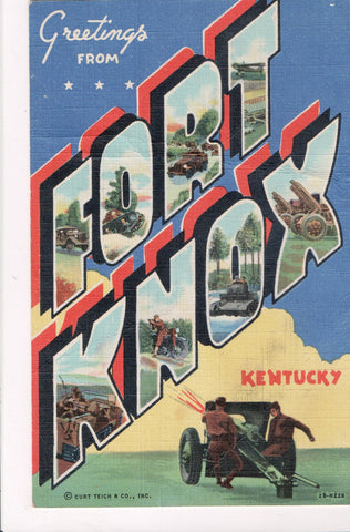 KY, Fort Knox - LARGE LETTER postcard - z17010 **DAMAGED / AS IS**
