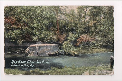KY, Louisville - Cherokee Park, Big Rock postcard - A07347