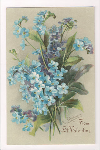 Greetings - Misc - Artist signed C Klein - From ST VALENTINE, flowers - E10345
