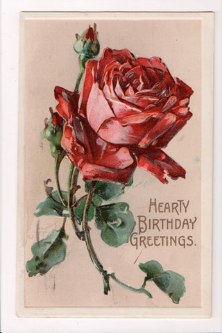 Greetings - Misc - Artist signed C Klein - @1914 red rose postcard - SL2101